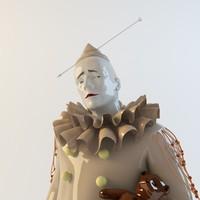 3d porcelain statuette
