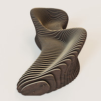 Parametric 2 seeted bench