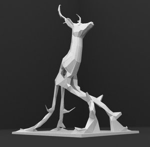 ready printing abstract deer 3d model