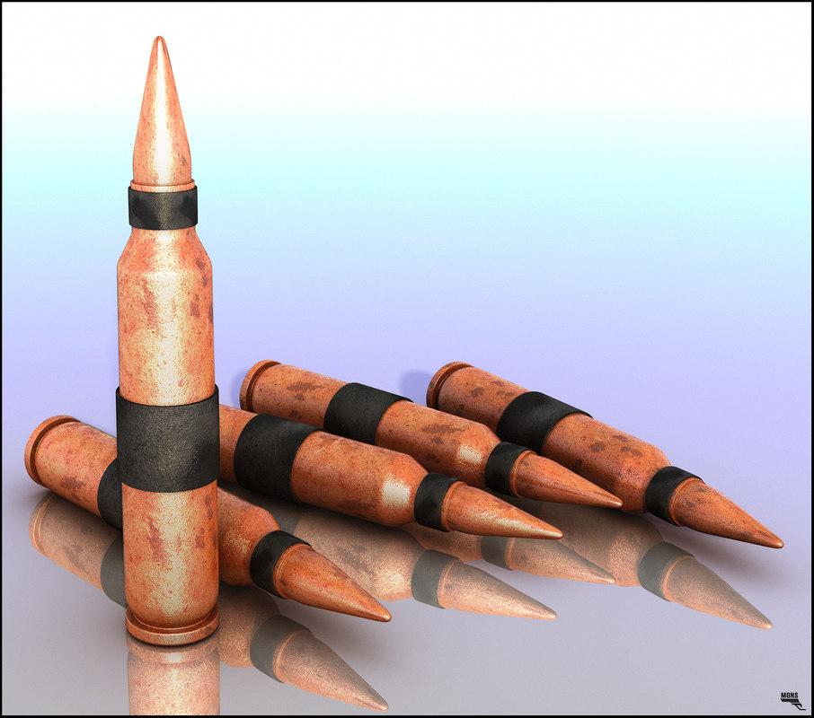 free bullet 3d model