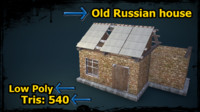 low-poly old russian house games 3d obj