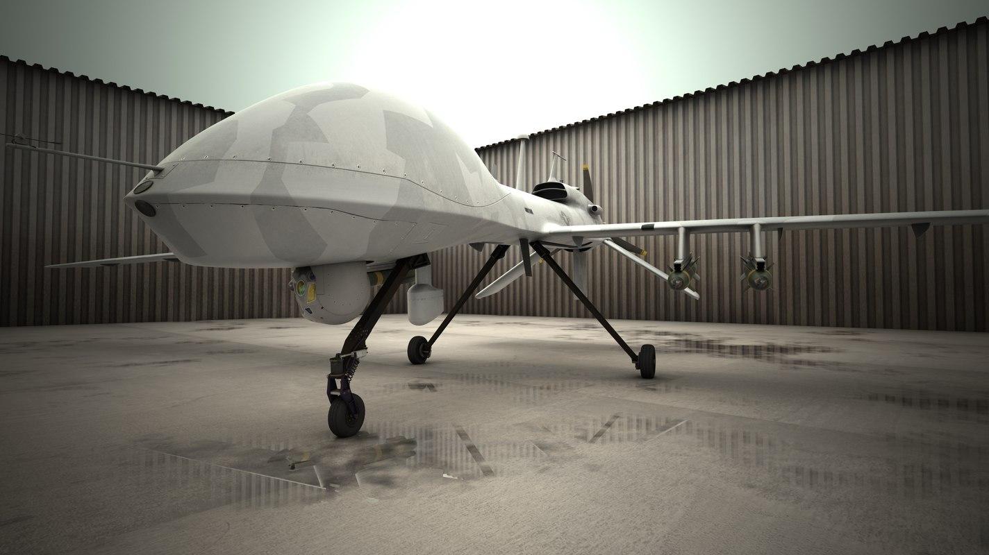 3d mq-1c gray eagle model
