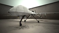 MQ-1C Gray Eagle military drone airplane.