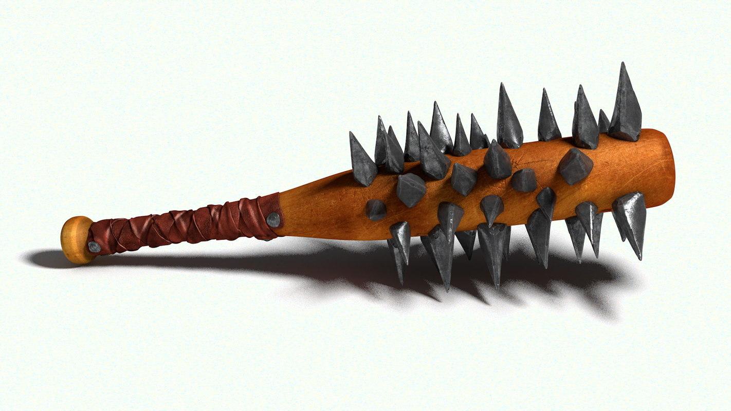 3d model club iron spikes