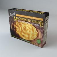 box amys macaroni cheeses 3d c4d