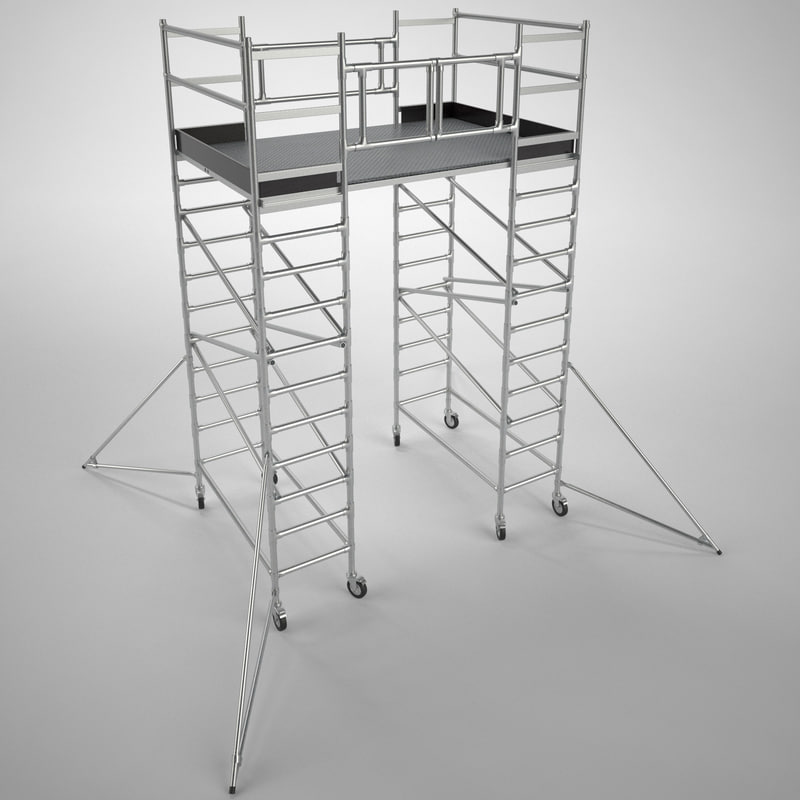 scaffold tower 3d model