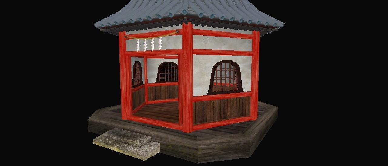 3d model small buddhist temple