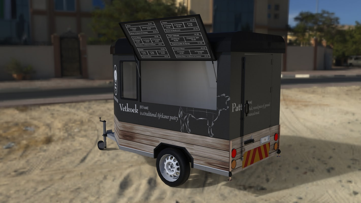 trailer foodtruck 3d model