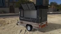 trailer foodtruck 3d model