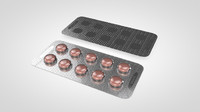 3d model pill blister