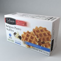 3d box belgian pastry waffles