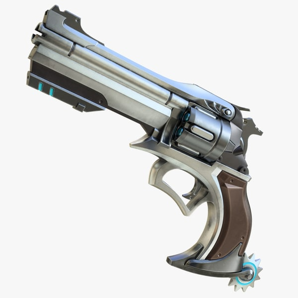realistic mccree gun 3d model
