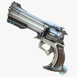 realistic mccree gun 3d model