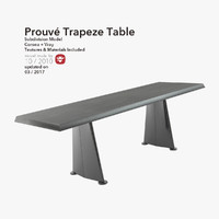 3d model table furniture trapeze