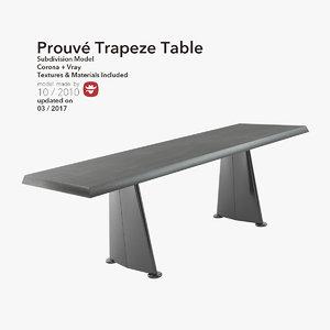 3d model table furniture trapeze