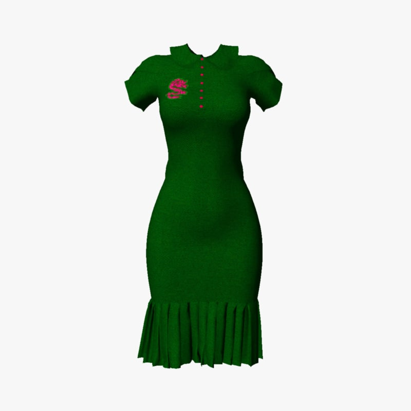 3d model dress size