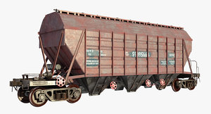 rail hoppper car obj