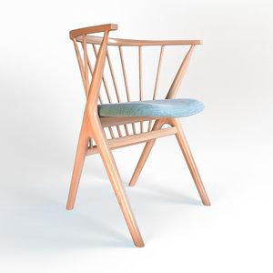 3d armchair sessel 02 model