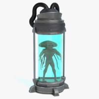 sci-fi specimen container 3d 3ds