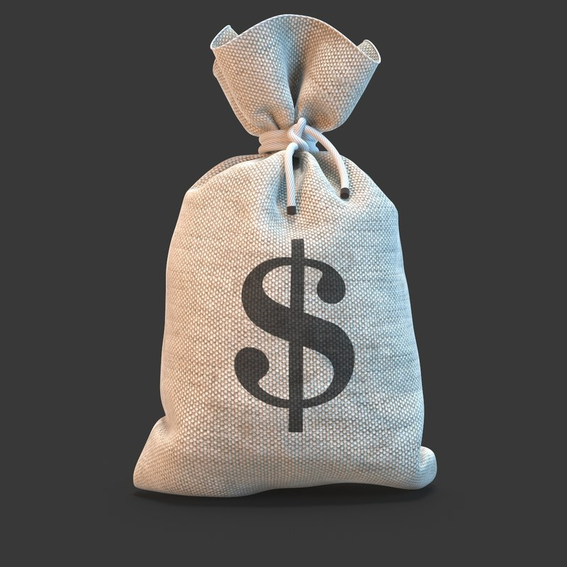 money bag 3d max