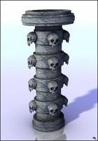 pillar column fantasy 3d max