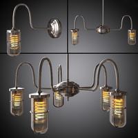 3d model chandelier wall lamp dune