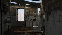 3d max dilapidated restroom architecture