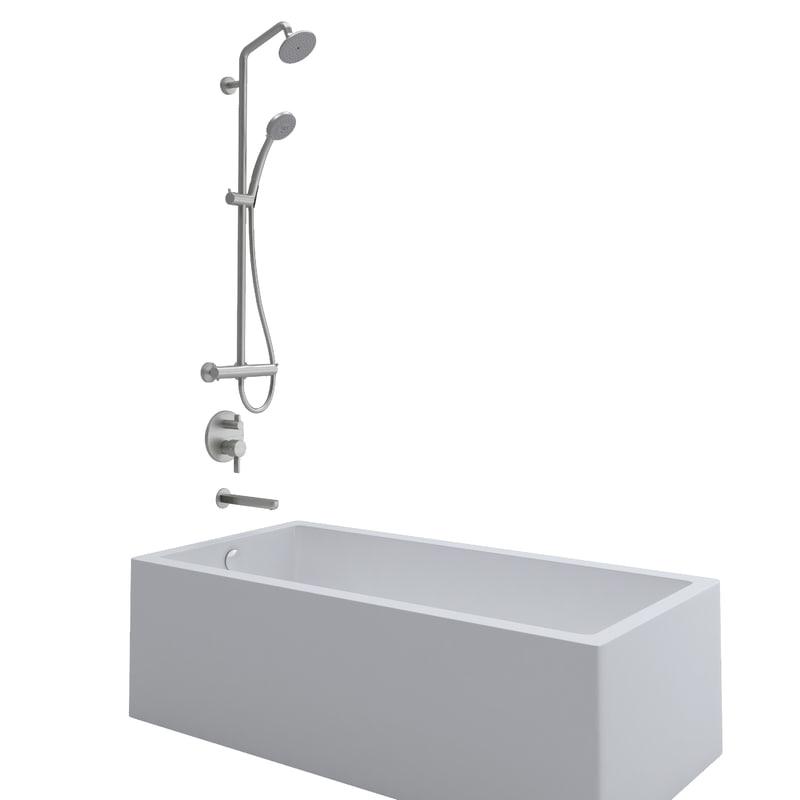 3d soaker shower tub control