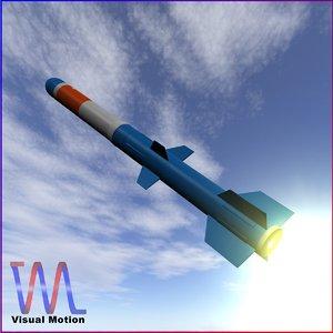 3d model navy rur-5 missile