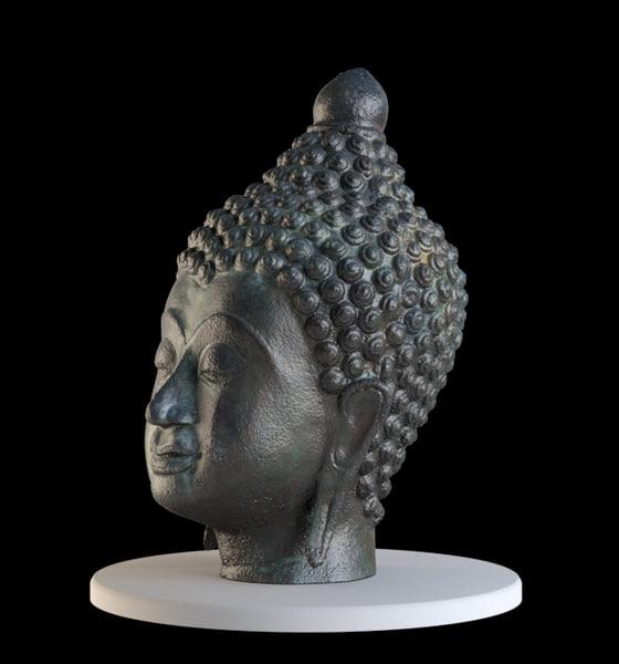 3d model scan buddha