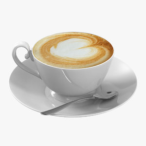 coffee cappucino cup 3d max
