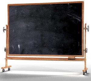 cartoonie blackboard 3d obj