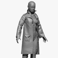 woman cyborg zbrush 3d obj