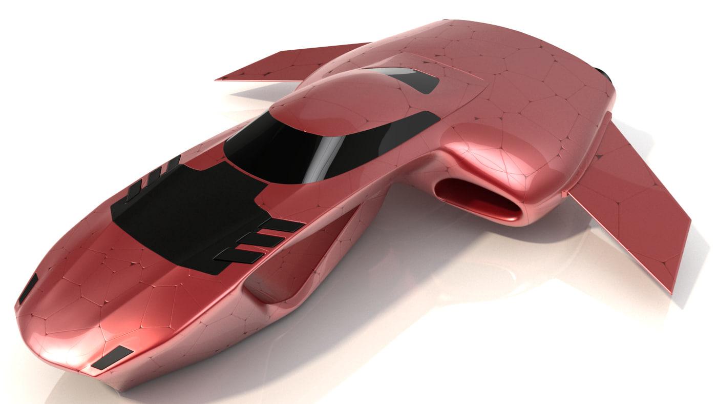 hover car pro vehicle 3d 3ds