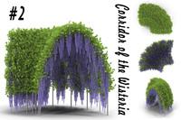 3d model wisteria corridor flowering