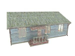 wooden house 3d 3ds