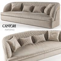 sofa portofino cantori 3d model