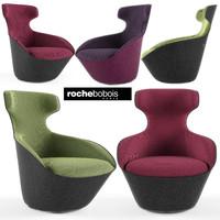 3d roche armchair pivot