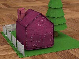 fluffy town house standard 3d model