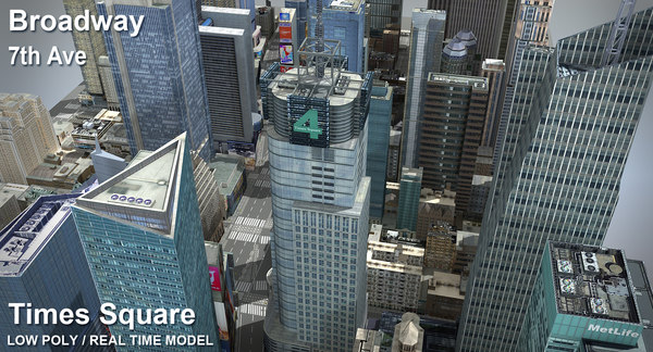 new york square time 3d max