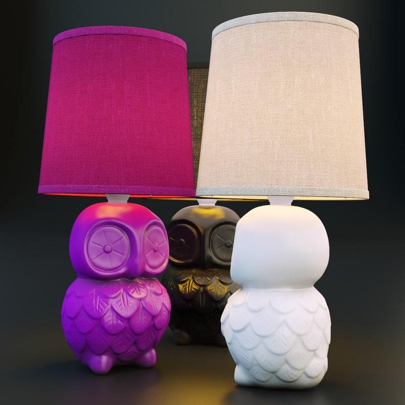 table lamp owl 3d model