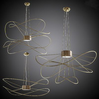 Set of chandeliers Axolight Hoops