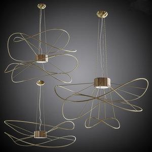 set lamps axolight hoops 3ds