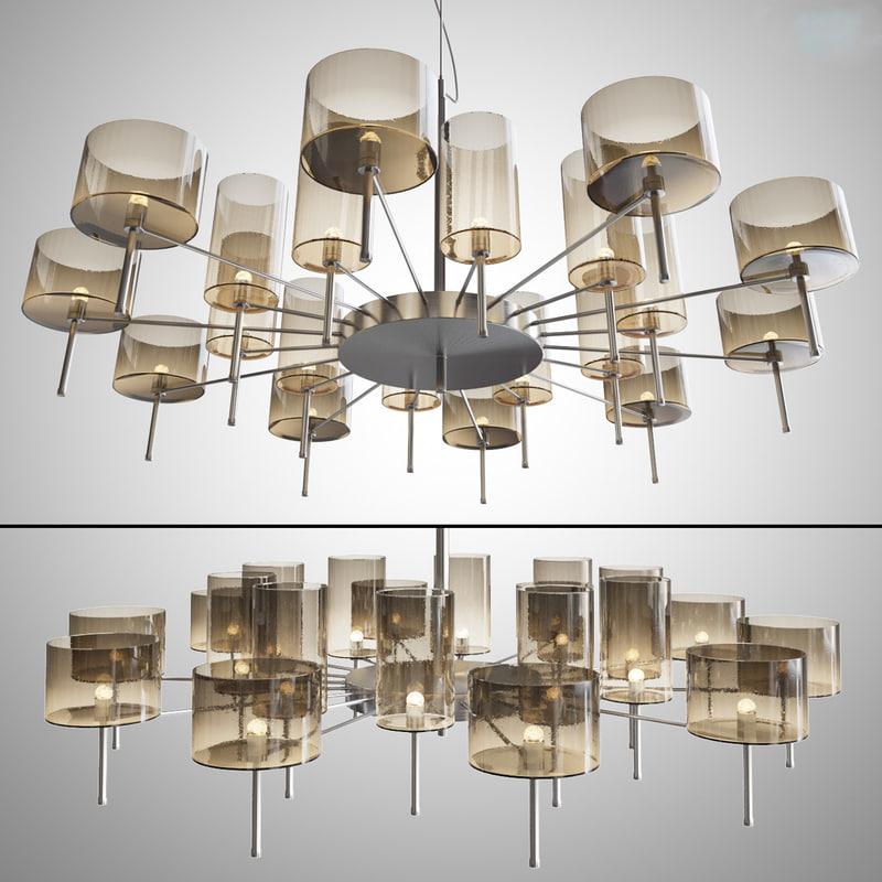 chandelier axolight spillray lamps 3d max
