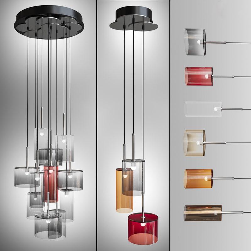 3d model pendants axolight spillray lamps