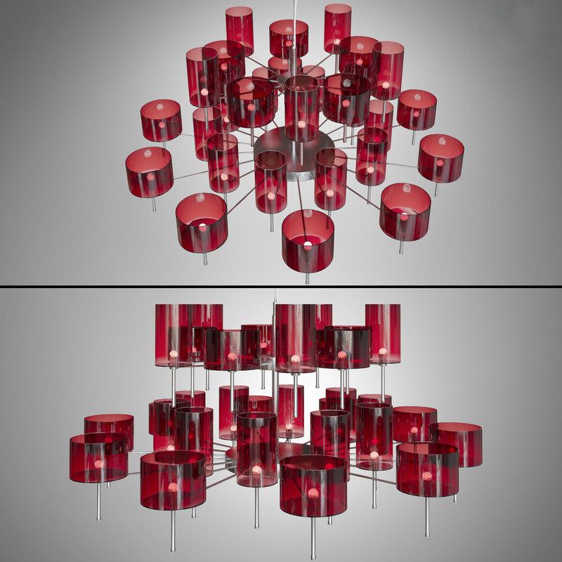 3d chandelier axolight spillray light model