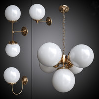 Set of chandelier and wall lamps Mullan
