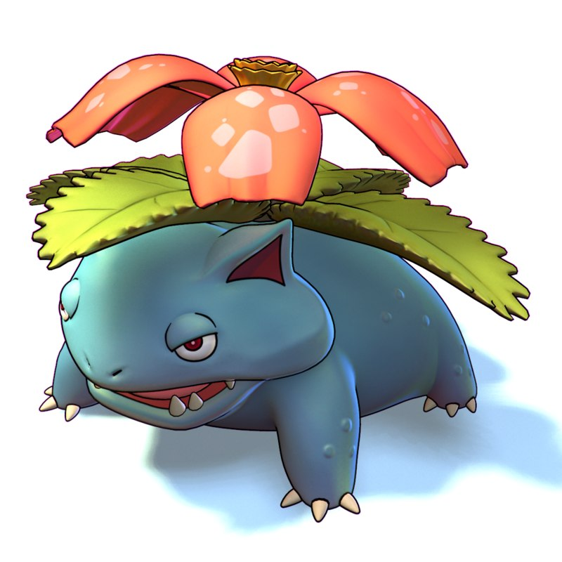 venusaur pokemon 3d model