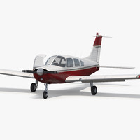 3d model personal propeller aircraft generic