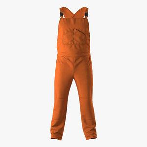factory worker orange overalls max
